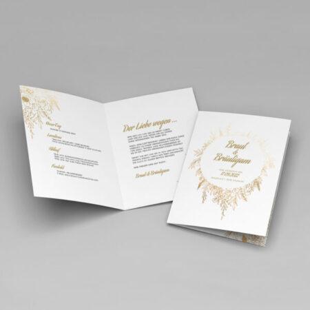 Botanical gold invitation